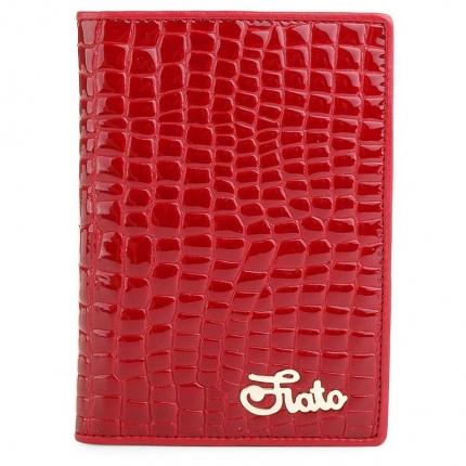 Обложка для паспорта fiato из натуральной кожи, красная, 019(F16G-68J)