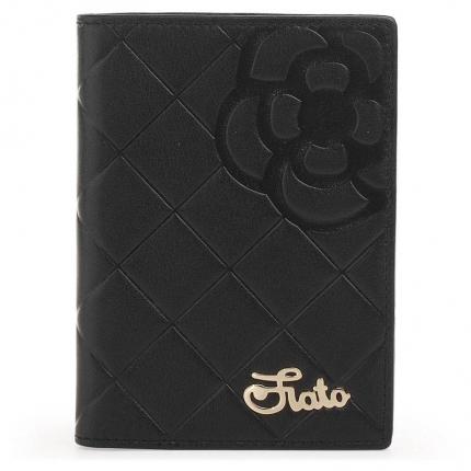 Обложка для паспорта fiato из натуральной кожи, черная, 019(FC-10J)