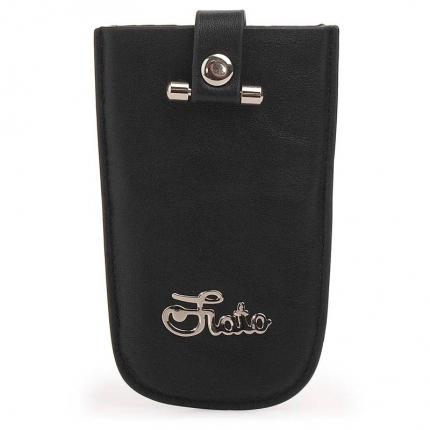 Ключница fiato из натуральной кожи, черная, 034(FC-10L)