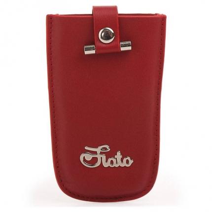 Ключница fiato из натуральной кожи, красная, 034(FC-68L)
