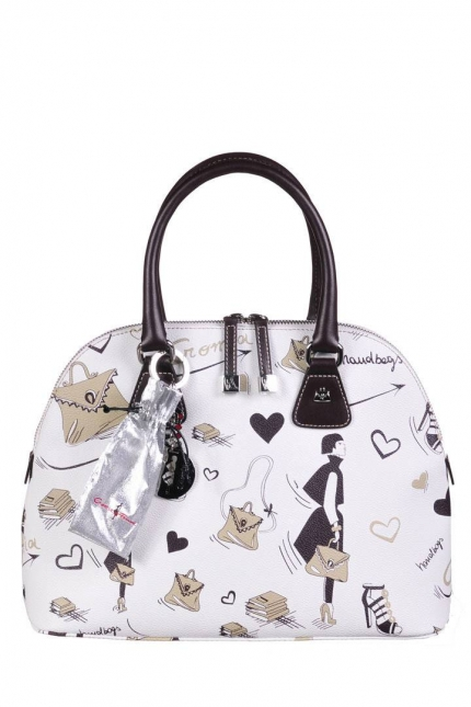 Женская сумка Cromia, CR1400492 beige/t.moro fe, белый