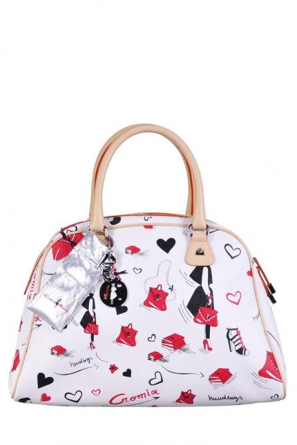 Женская сумка Cromia, CR1400494 bianco/naturale, белый