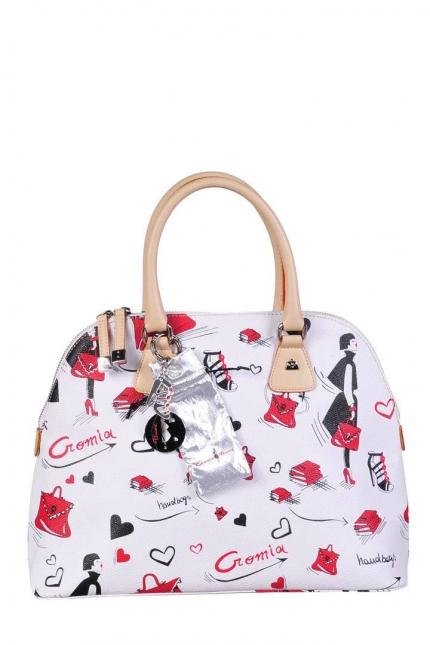 Женская сумка Cromia, CR1400496 bianco/naturale, белый
