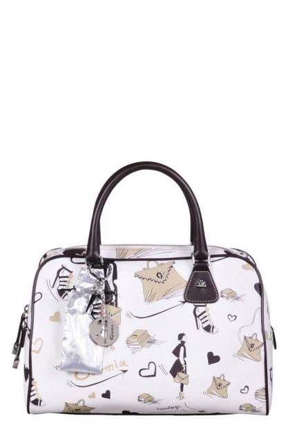 Женская сумка Cromia, CR1400504 beige/t.moro fe, белый