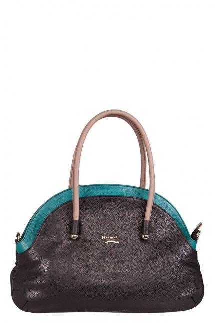 Женская сумка Marina Creazioni, B2268 nero adria+acquamar, черный