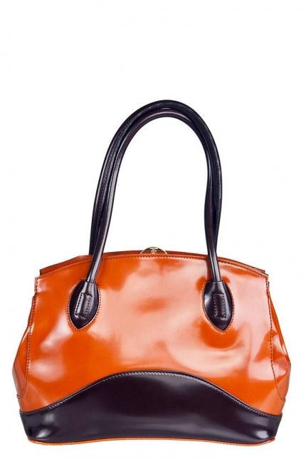 Женская сумка Carlo Salvatelli, CS 8032 ruggine 1107 pir., рыжий