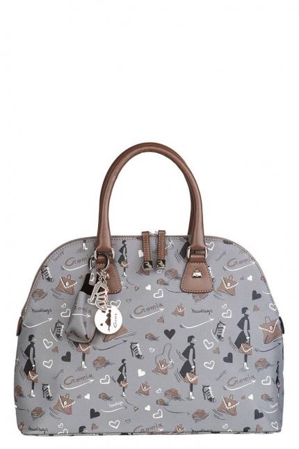 Женская сумка Cromia, CR1400807 grigio femme pu, серый