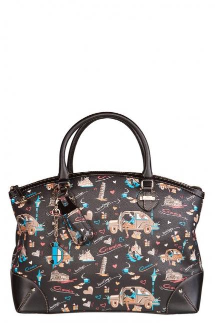 Женская сумка Cromia, CR1400824 nero femme go, черный