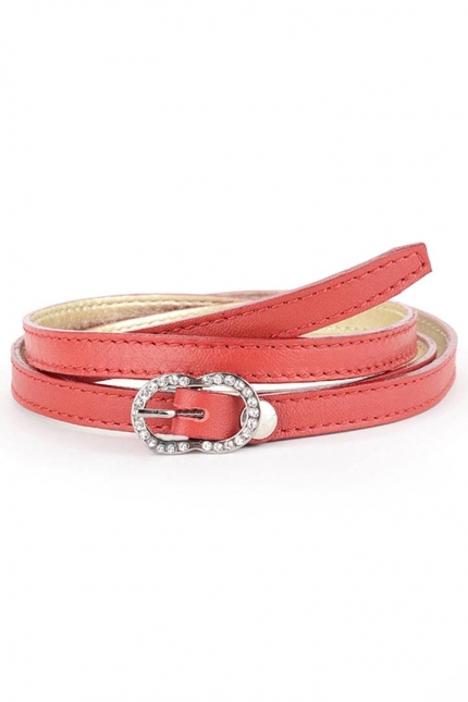 Ремень женский Marina Creazioni F2033-10 rosso lux piombo, красный