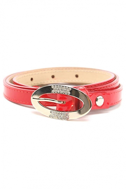 Ремень женский Marina Creazioni F2085-15 rosso laccato or, красный