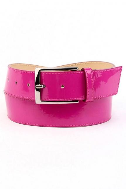 Ремень женский Marina Creazioni F2309-40 fuxia laccato pi, розовый