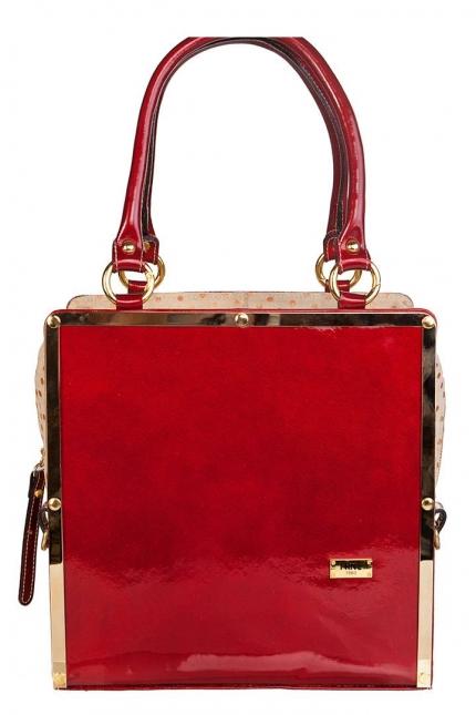 Купить Шикарная лаковая сумка из натуральной кожи