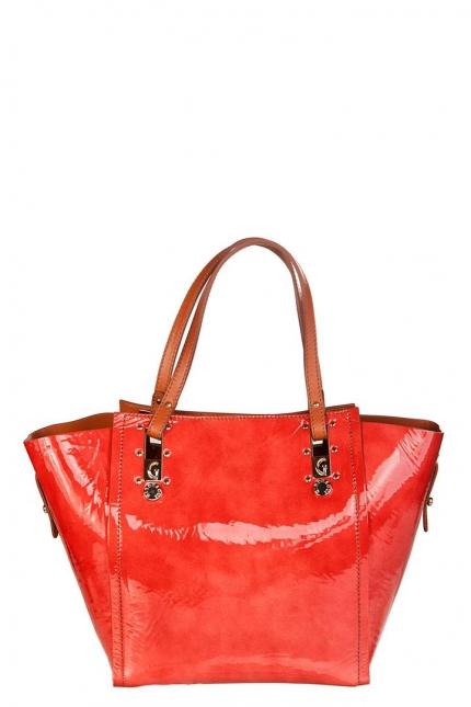 Сумка женская Gironacci GIR373 rosso/cuoio ver/vi, красный