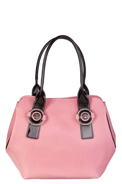 Сумка женская Capoverso CV34220 confetto/nero lha, розовая