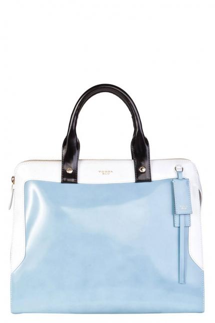 Сумка женская Tosca Blu TS13WB341 azzur/bianco/ne, голубая