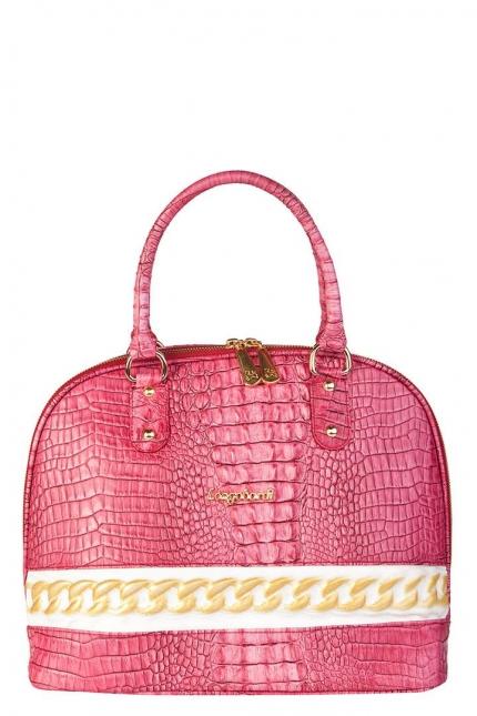 Сумка женская Longobardi LG8216 fucsia 330 cocco ni, розовая