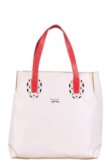 Женская сумка Marina Creazioni, B1936 bianco/ocra elite+v, белый