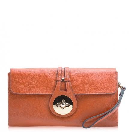 Клатч женский, оранжевый, B00301-orange