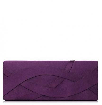 Клатч текстильный, фиолетовый, K00253-purple