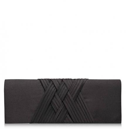 Клатч текстильный, черный, K00293-black