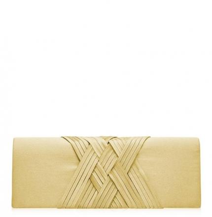 Клатч текстильный, золото, K00293-gold