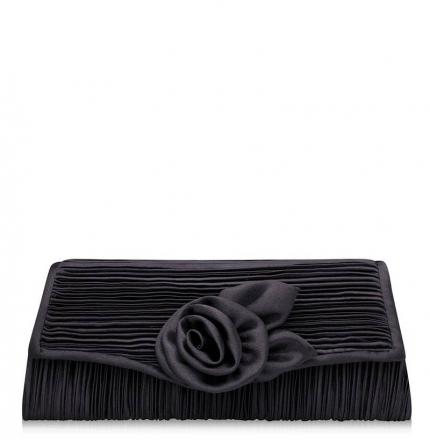 Клатч текстильный, черный, K00417-black