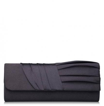 Клатч текстильный, черный, K00420-black