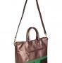 Женская сумка Di Gregorio, DG 2403 bronzo/verde/moro, коричневый