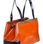 Женская сумка Carlo Salvatelli, CS 8043 ruggine 1107 pir., рыжий