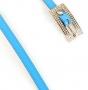 Ремень женский Marina Creazioni F2061-10 azzurro laccato, голубой