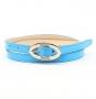 Ремень женский Marina Creazioni F2085-15 azzurro laccato, голубой