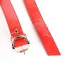 Ремень женский Marina Creazioni F2304-30 rosso laccato or, красный