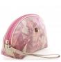 Косметичка fiato из натуральной кожи, белая/розовая, 6738(F189)