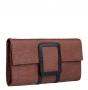 Клатч женский, коричневый, B00371-brown