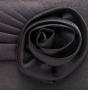 Клатч текстильный, черный, K00178-black