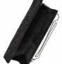 Клатч текстильный, черный, K00292-black