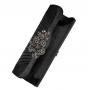 Клатч текстильный, черный, K00451-black