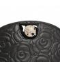 Косметичка Fiato из натуральной кожи, черная, 6734(F163/F19)